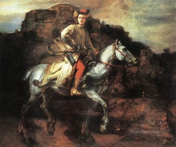 Polish Oil Painting - The Polish Rider Rembrandt