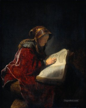 The Prophetess Anna known ass Mother Rembrandt Oil Paintings