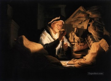 Rembrandt van Rijn Painting - The Rich Man from the Parable Rembrandt