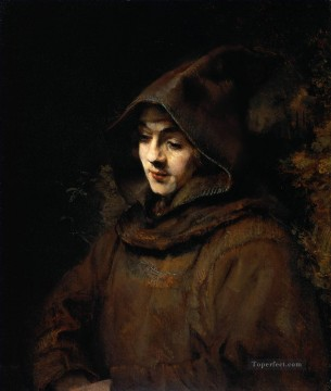 Titus van Rijn in a Monks Habit portrait Rembrandt Oil Paintings