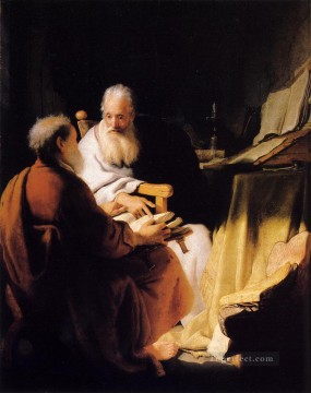 Two Old Men Disputing Rembrandt Oil Paintings