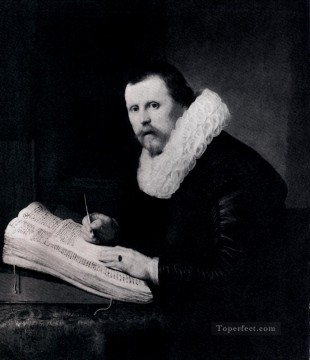 Rembrandt van Rijn Painting - Young Man At His Desk portrait Rembrandt