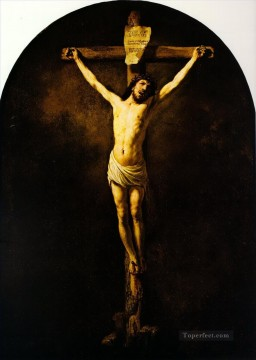 Rembrandt van Rijn Painting - christ on the cross 1631 Rembrandt