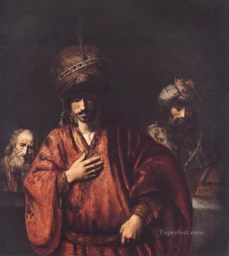 David and Uriah Rembrandt Oil Paintings