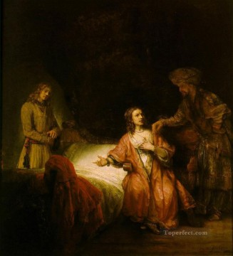Rembrandt van Rijn Painting - Joseph Accused by Potiphars Wife Rembrandt