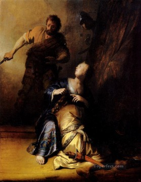 Samson And Delilah Rembrandt Oil Paintings
