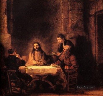 Rembrandt van Rijn Painting - Supper at Emmaus Rembrandt