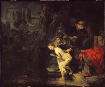 Bath Painting - Suzanna in the Bath Rembrandt