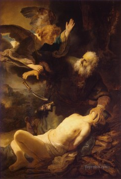 Rembrandt van Rijn Painting - The Sacrifice of Abraham Rembrandt