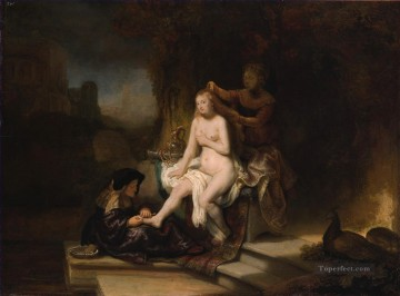 Rembrandt van Rijn Painting - The Toilet of Bathsheba Rembrandt