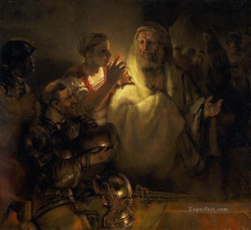 Rembrandt van Rijn Painting - the denial of peter 1660 Rembrandt