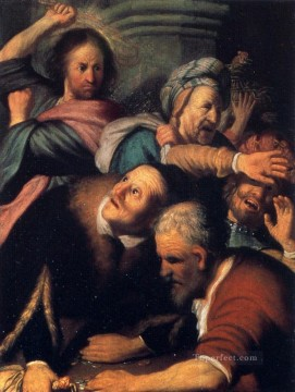 Christ Driving The Money Changers From The Temple Rembrandt Oil Paintings