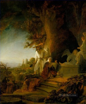 Christ and St Mary Magdalen at the Tomb Rembrandt van Rijn Oil Paintings