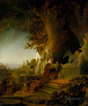 Rembrandt van Rijn Painting - Christ and St Mary Magdalene at the Tomb Rembrandt