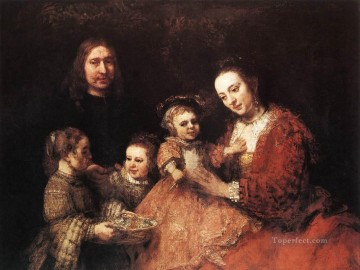 Family Painting - Family Group Rembrandt