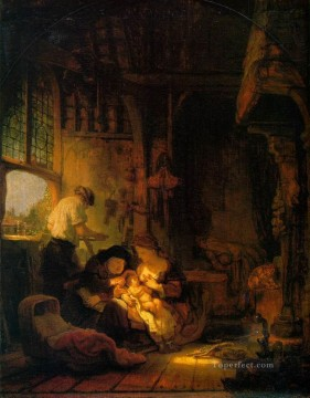 Holy Family Rembrandt Oil Paintings