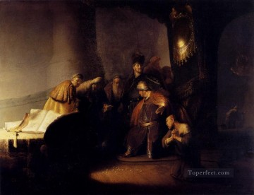 Silver Painting - Repentant Judas Returning The Pieces Of Silver Rembrandt