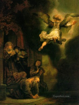The Archangel Leaving the Family of Tobias Rembrandt Oil Paintings