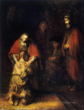 Rembrandt van Rijn Painting - The Return of the Prodigal Son Rembrandt