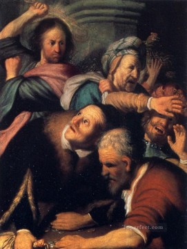 christ driving the moneychangers from the temple 1626 Rembrandt Oil Paintings