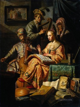 musical Painting - Musical Allegory Rembrandt