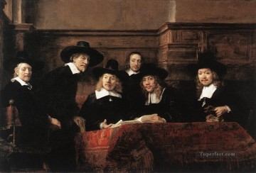 Sampling Officials of the DrapersGuild Rembrandt Oil Paintings