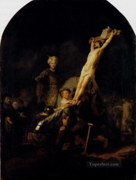 Rembrandt van Rijn Painting - The Elevation Of The Cross Rembrandt