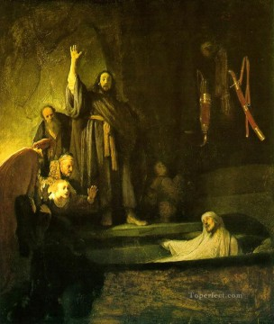 Rembrandt van Rijn Painting - The Raising of Lazarus Rembrandt