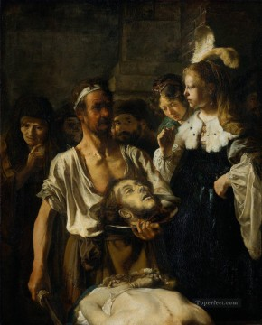 Rembrandt van Rijn Painting - the beheading of john the baptist Rembrandt