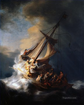 Rembrandt van Rijn Painting - Christ In The Storm On The Sea Of Galilee Rembrandt