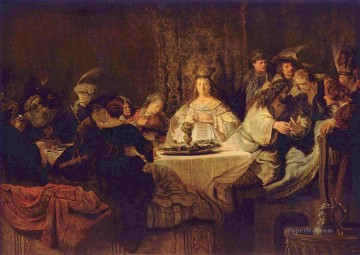 Rembrandt van Rijn Painting - Samson at the Wedding Rembrandt