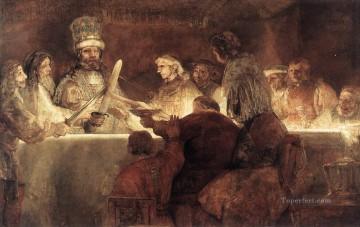 Rembrandt van Rijn Painting - The Conspiration of the Bataves Rembrandt