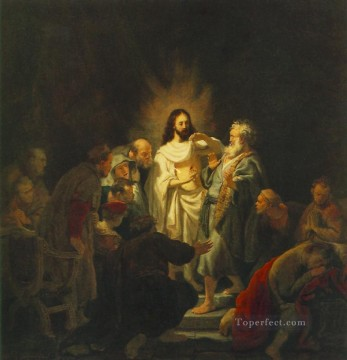 Rembrandt van Rijn Painting - The Incredulity of St Thomas Rembrandt