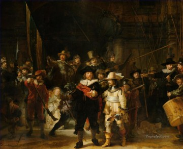 Rembrandt van Rijn Painting - The Nightwatch Rembrandt van Rijn