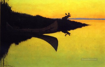Frederic Remington Painting - Comming to the Call Old American West Frederic Remington