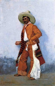 Remington Painting - A Vaquero Old American West Frederic Remington