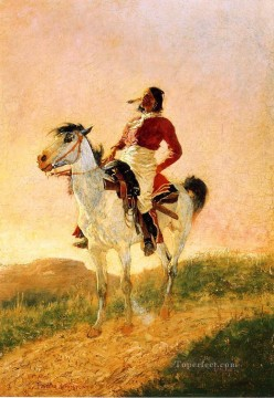 Frederic Remington Painting - Modern Comanche Old American West Frederic Remington