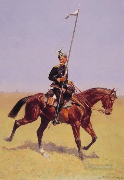 Frederic Remington Painting - Uhlan Old American West Frederic Remington