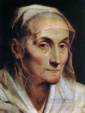 Woman Painting - Portrait of an Old Woman Baroque Guido Reni