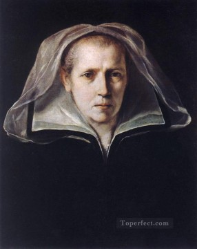 Baroque Canvas - Portrait of the Artists Mother Baroque Guido Reni