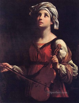 St Cecilia Baroque Guido Reni Oil Paintings