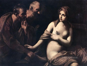 guido oil painting - Susanna and the Elders Baroque Guido Reni