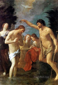 baptism of christ Painting - Baptism of Christ Baroque Guido Reni