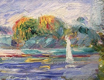 the blue river Pierre Auguste Renoir Oil Paintings