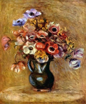 anemones flower Pierre Auguste Renoir Oil Paintings