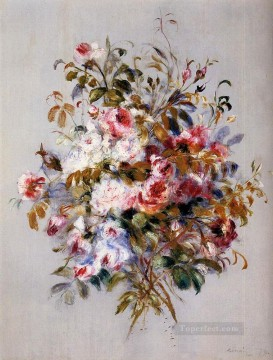 bouquet of roses flower Pierre Auguste Renoir Oil Paintings