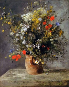 flowers in a vase 1866 Pierre Auguste Renoir Oil Paintings