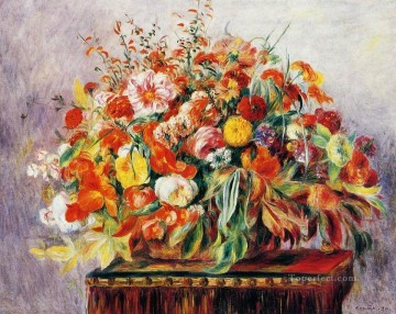 Pierre Auguste Renoir Painting - still life with flowers Pierre Auguste Renoir