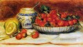 strawberries still life Pierre Auguste Renoir