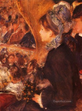 At The Theatre master Pierre Auguste Renoir Oil Paintings